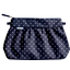 Pleated clutch bag navy blue spots - PPMC