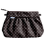 Pleated clutch bag brown spots - PPMC