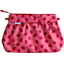 Pleated clutch bag ladybird gingham