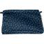 Coton clutch bag bulle bronze marine - PPMC