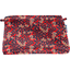 Pochette tissu feuillage vermillon
