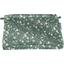 Pochette tissu fleuri kaki - PPMC