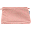 Coton clutch bag mini pink flower - PPMC