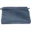 Pochette tissu paille argent jean - PPMC