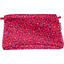 Pochette tissu pompons cerise - PPMC