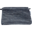 Coton clutch bag striped silver dark blue - PPMC