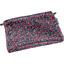 Mini pochette tissu camelias rubis - PPMC