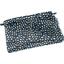Mini pochette tissu  eclats bleu nuit - PPMC