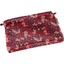 Mini pochette tissu feuillage vermillon - PPMC