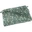 Mini pochette tissu fleuri kaki - PPMC