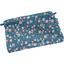 Mini pochette tissu fleuri nude ardoise - PPMC