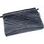 Tiny coton clutch bag striped silver dark blue - PPMC