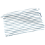 Tiny coton clutch bag striped blue gray glitter - PPMC