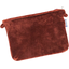 Tiny coton clutch bag terracotta velvet - PPMC