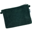 Tiny coton clutch bag green velvet - PPMC