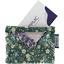 Porte badge fleuri kaki - PPMC