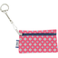 Keyring  wallet small flowers pink blusher - PPMC
