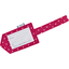 Luggage Tag fuschia spots