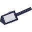 Luggage Tag navy blue spots - PPMC