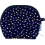 gusset coin purse navy gold star - PPMC