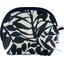 Porte-monnaie à soufflet feuillage lin noir - PPMC