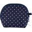 gusset coin purse navy blue spots