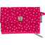 zipper pouch card purse fuchsia gold star