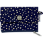 zipper pouch card purse navy gold star - PPMC