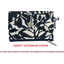 zipper pouch card purse chinese ink foliage  - PPMC
