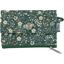 Mini pochette porte-monnaie fleuri kaki - PPMC