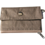 zipper pouch card purse gold linen - PPMC