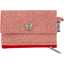 zipper pouch card purse mini pink flower - PPMC