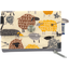 zipper pouch card purse yellow sheep