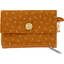 zipper pouch card purse caramel golden straw - PPMC