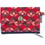zipper pouch card purse paprika petal