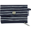 zipper pouch card purse striped silver dark blue - PPMC