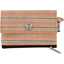 zipper pouch card purse bronze copper stripe  - PPMC