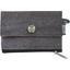 zipper pouch card purse suédine noire - PPMC