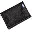Portefeuille compact noir pailleté - PPMC