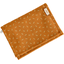 Compact wallet caramel golden straw