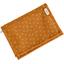 Portefeuille compact paille dorée caramel - PPMC