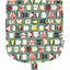 Flap of small shoulder bag animals cube