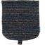 Flap of small shoulder bag chiné bleu corail - PPMC
