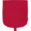 Flap of small shoulder bag red spots - PPMC