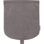 Flap of small shoulder bag suédine taupe - PPMC