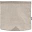 Rabat besace carré grand lin argenté - PPMC