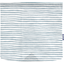 Square flap of saddle bag  striped blue gray glitter - PPMC