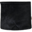 Square flap of saddle bag  black velvet - PPMC