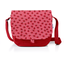 Flap of saddle bag ladybird gingham