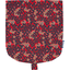 Flap of small shoulder bag vermilion foliage
